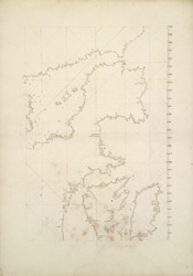 Portolan Chart Showing Outline of British Isles 78